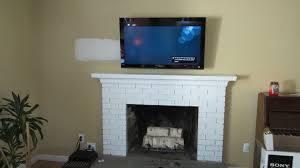 mounting tv above brick fireplace binhminh decoration