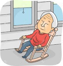 A Rocking Chair Illustration Featuring An Elderly Man Taking A Nap In A Rocking