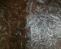 Keystone Upholstery Supplies Brown Tooled Faux Leather Brown Embossed Tooled Faux Leather