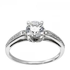 10k wedding ring engagement rings solitare accent alejandra engagement ring