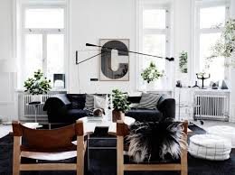 Black And White Chair And Ottoman Design Ideas Scandinavian Living Room Design Ideas Inspiration Living Rooms