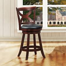 24 Bar Stool With Back Nice 24 Inch Wooden Swivel Bar Stools With Back Cros Cherry X Back