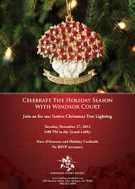 windsor court lights two story grand lobby christmas tree new