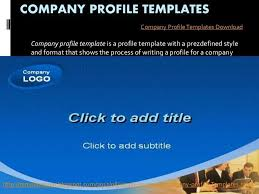 profile of company format company profile templates designlook