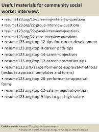 top 8 community social worker resume samples