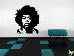 jimi hendrix e walls studio vinyl wall stickers jimi hendrix