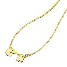 tiny necklace chain images Tiny pacman necklace ghost fashion jewelry gold chain pendant jpg