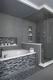 bathroom ideas pictures smoke grey glass subway tiles add a spa like feel to this tub