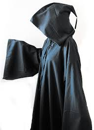 ritual cloak black hooded robe