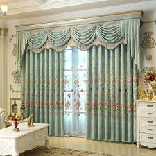 beige floral beautiful elegant floor to ceiling valance curtains