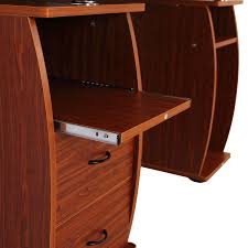 aosom homcom home office dorm computer desk w elevated shelf