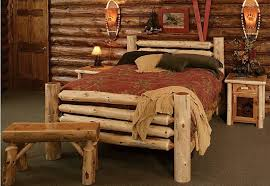 furniture rustic bedroom furniture ideas with faux animal rug