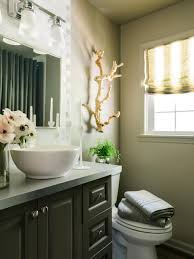 bold beautiful powder room makeover hgtv