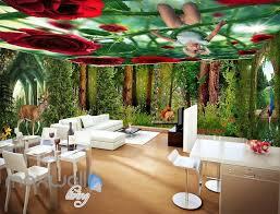 3d flower forest fairy ceiling wall murals wallpaper paper art 3d flower forest fairy ceiling wall murals wallpaper paper art print decor idcqw 000343