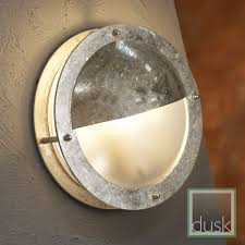 Garden Wall Lights Patio by Nordlux Malte Outdoor Ip54 Galvanized Steel Round Eyelid Wall