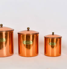 28 copper kitchen canisters vintage copper kitchen copper kitchen canisters copper kitchen canisters ebth