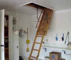metal pull down attic stairs