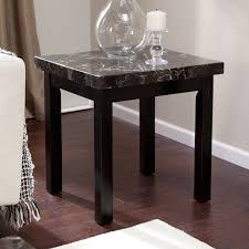 hardwood 10 inch chairside end table carmine faux marble end table hayneedle