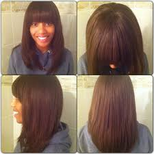 sew in weaves with bangs sew in hairstyles with bangs