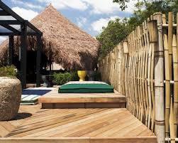 Bamboo Garden Design Ideas Garden Design Ideas Bamboo Fence Wooden Sun Deck Privacy