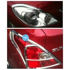 digitru car head tail light abs chrome cover for nissan sunny