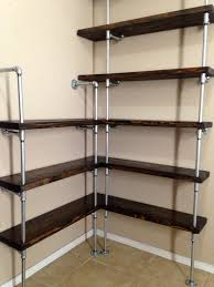 pipe shelves kitchen trends with industrial shelving images closet