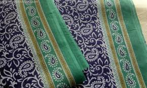 paisley cotton sari fabric by the yard unique indian saree