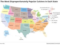 here is the most disproportionately popular cuisine in each state