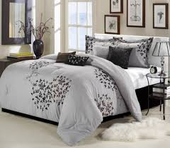 bedroom cheap grey queen bedroom comforter set with pillows and
