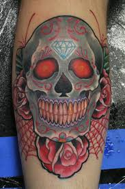 customcreationsbysydnei style death skull and roses tattoos ideas