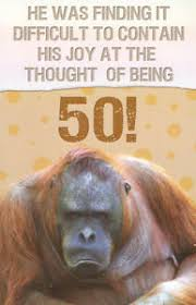 funny humorous 50th birthday card male female 10 x cards to
