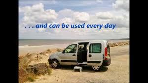 renault van kangoo renault kangoo campervan daybox instant conversion youtube