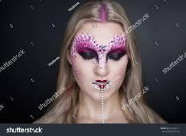 halloween long background creative makeup new conceptual idea halloween stock photo