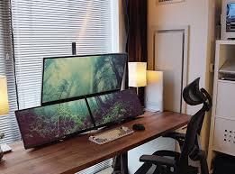 desk beautiful ergonomic desk setup room decor delightful