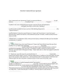 land lease agreement template maryland rental lease agreement templates legalforms org