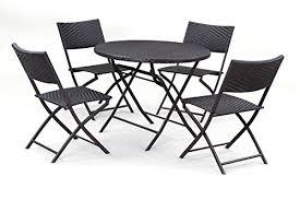 bellezza bistro set folding table u0026 chair dining rattan wicker outdo