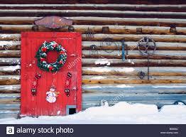 Red Barn Door by Holiday Wreath Hanging On Red Barn Door W U0026 W O Christmas Tree