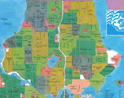 Chicago Map Neighborhoods by North Seattle Neighborhood Map Chicago Map