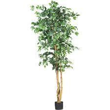 artificial tree nearly 5209 ficus silk tree 6 green walmart