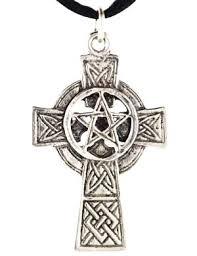 celtic cross pentagram necklace jpg