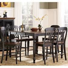 7 piece counter height dining room sets homelegance ohana 7 piece counter height dining room set in black