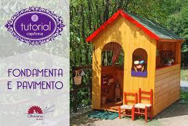 giardino bambini come costruire il pavimento della casetta dei bambini in giardino