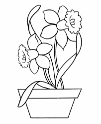daffodil coloring easy daffodil coloring pages kids