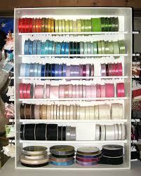 ribbon holders let s make a ribbon shelf thefrugalcrafter s weblog