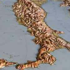 World Map Italy by Relief Maps Our Relief Maps World Relief Maps