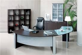 Curved Office Desk by Picture Of Direction Style Curved Executive Desk Frosted Glass