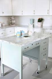 Repurposed Kitchen Island Turn A Desk Into A Kitchen Island Restoration Design For The