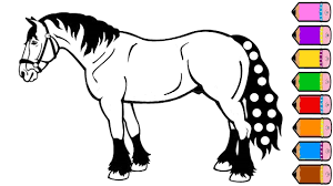 horse coloring pages drawing for kids youtube videos for