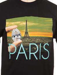 diamond supply co diamond supply co paris life photo t shirt black diamond