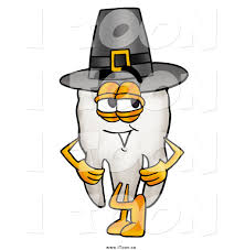 thanksgiving pilgrims clipart royalty free cartoon of a tooth mascot wearing a thanksgiving